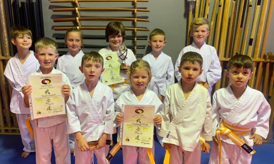 HARD WORK: Mudgee Martial Arts recently awarded selected students' for their efforts throughout a turbletnt 2020, including students in the Tuesday beginners class. Photo: Mudgee Martial Arts Facebook page