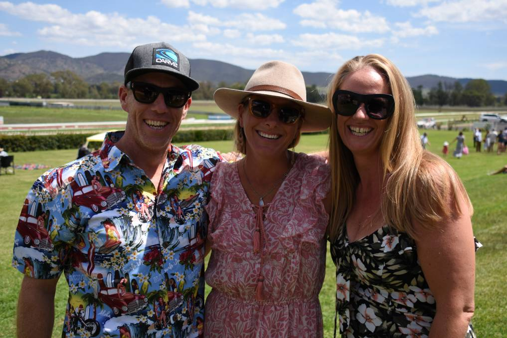 DAY TO REMEMBER: Richard and Kate Cass, and Jodie Lawson were out and about at last year's Country Championships. Photo: Jay-Anna Mobbs