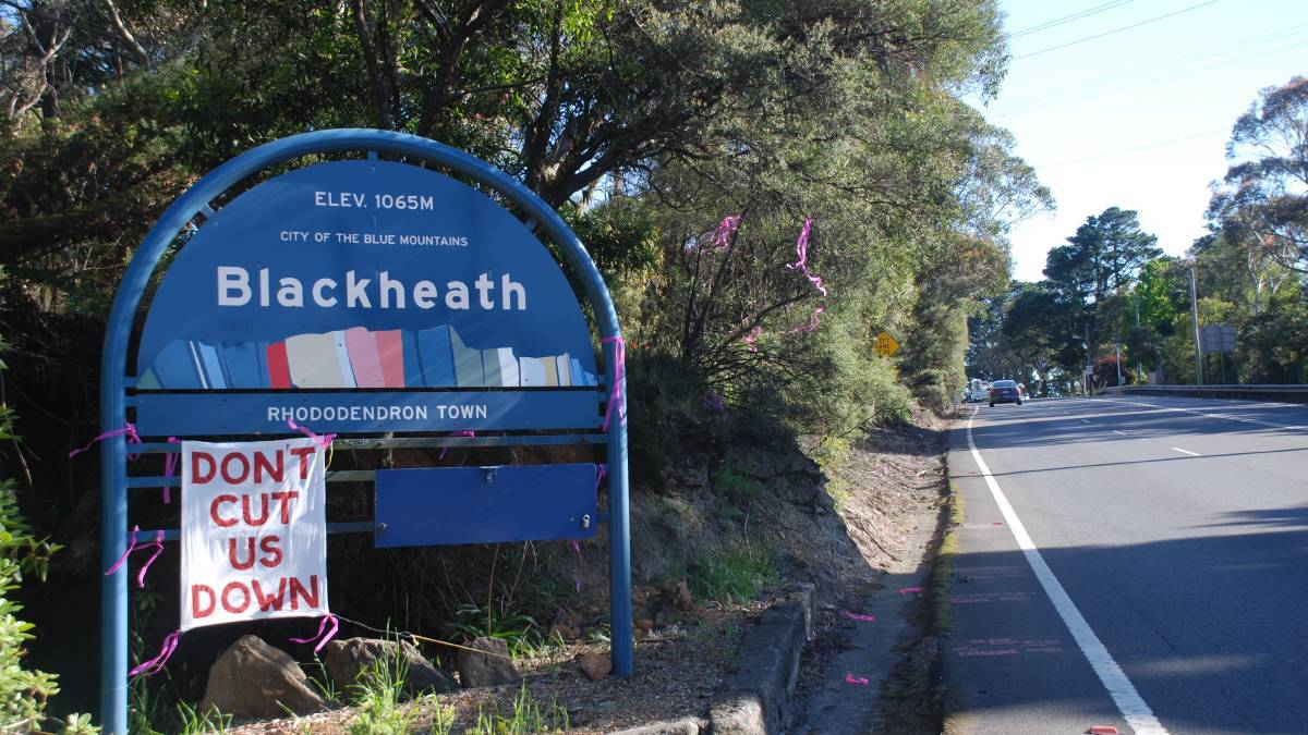 BEFORE: There are a number of options being considered for Blackheath as part of the proposed duplication of the Great Western Highway from Katoomba to Lithgow.