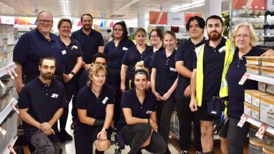 The staff at KHub Mudgee in-store on Thursday ahead of its opening on Friday morning.
