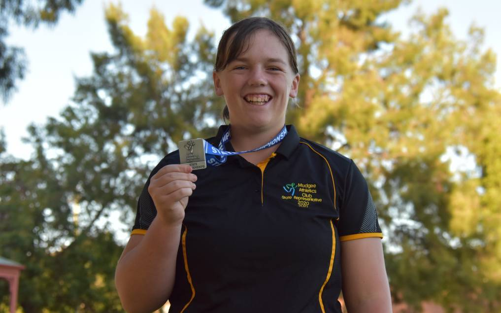 After receiving a silver medal in shot put at the NSW State Youth Championships, Mollie Blackman hopes to one day represent Australia. Photo: Jay-Anna Mobbs
