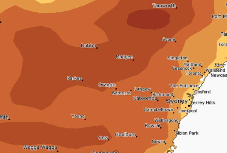 DRIER DAYS: There is an 70-75 per cent chance the region will not exceed median rainfall levels. Image: BUREAU OF METEOROLOGY